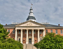 Maryland State House in Annapolis, Maryland. A view of the Maryland State House in Annapolis, Maryland, the oldest US state capitol building in continuous use Royalty Free Stock Photos