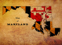 Maryland State Map Royalty Free Stock Image
