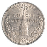 Maryland State Quarter coin Stock Images