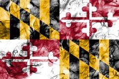 Maryland state smoke flag, United States Of America.  Royalty Free Stock Photography