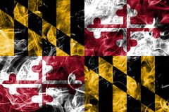 Maryland state smoke flag, United States Of America.  Stock Photography