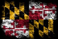 Maryland state smoke flag, United States Of America.  Stock Image