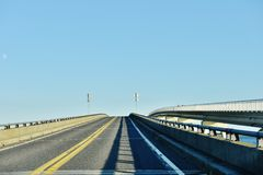 Maryland state usa assateague  two types bridges Royalty Free Stock Photography