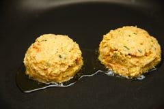 Maryland Style Crab Cakes Stock Photo