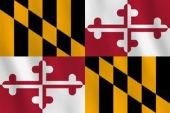 Maryland-US-Staats-Flagge mit wellenartig bewegendem Effekt, offizieller Anteil vektor abbildung