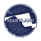 Maryland vector map. Stock Images