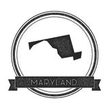 Maryland vector map stamp. Royalty Free Stock Photos