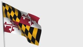 Free Maryland Waving Flag Illustration On Flagpole. Royalty Free Stock Photos - 158172328