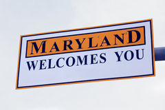 Maryland welcomes you Royalty Free Stock Photography