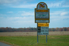 Maryland Welcomes You Royalty Free Stock Photo