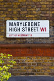 Marylebone High Street in London Stock Photo