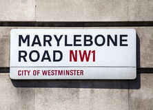 Marylebone Road Street Sign in London Royalty Free Stock Photos