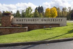 The Entrance to Marylhurst University royalty free stock image