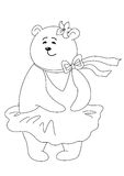 Marylin Monroe, contours. Teddy-bear Marylin Monroe in the dress inflated by a wind, contours Royalty Free Stock Photo