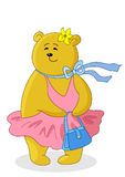 Marylin Monroe with handbag. Teddy-bear Marylin Monroe with handbag in the pink dress Stock Images
