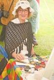 Marymas 2011 juste : Peintre de visage. Images libres de droits