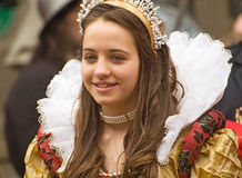 Marymas Queen; Medieval Fair. Royalty Free Stock Images