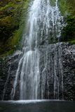 Falls. Marymere Falls in Olympic National Park Royalty Free Stock Image