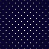 Marynarka wojenna bielu i błękita polki kropek Bezszwowy wzór ilustracja wektor