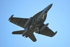 Marynarka wojenna F-18 fotografia royalty free