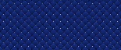 Marynarki wojennej błękita bezszwowy wzór w retro stylu z złocistą koroną Może używać dla premii królewskiego przyjęcia Obraz Royalty Free
