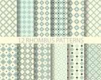 12 marynarki wojennej błękita rhombus geometryczny wzór 2 Fotografia Royalty Free