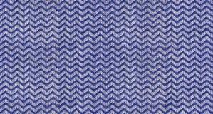 Marynarki wojennej błękita trójboka kształta białej fala tekstury tekstylny bezszwowy deseniowy tło Powtórkowego trójbok tkaniny  Zdjęcie Royalty Free