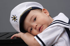 Marynarki wojennej chłopiec Zdjęcie Stock