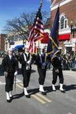 Marynarki wojennej gwardia honorowa, St Patrick dnia parada, 2014, Południowy Boston, Massachusetts, usa Obraz Stock