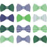 Marynarki wojennej i zieleń łęku krawata kolekcja Zdjęcia Royalty Free