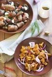 Marynowane pieczarki z pikantność Fotografia Stock