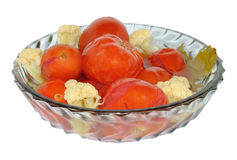 marynowani kalafiorów pomidory Zdjęcie Royalty Free