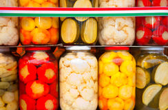 Marynowany jedzenie. zdjęcie stock