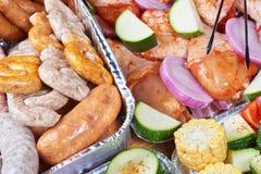 Marynowany mięso i warzywa obrazy stock