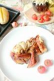 Marynowany piec na grillu kurczak Zdjęcia Royalty Free