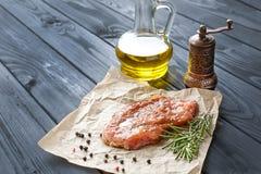 Marynowany wieprzowina stek Fotografia Royalty Free