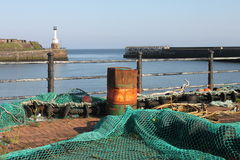 Maryport Harbour, Cumbria. View from maryport Harbour, Cumbria, Lake District, England Royalty Free Stock Images