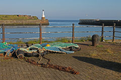 Maryport Harbour, Cumbria. View from Maryport Harbour, Cumbria, Lake District, England Royalty Free Stock Image