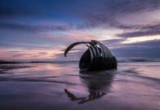 Marys Shell au coucher du soleil, Cleveleys, Angleterre images libres de droits