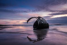 Marys Shell at Sunset, Cleveleys, England royalty free stock images