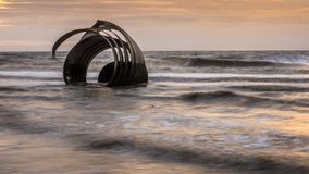 Marys Shell sur Cleveleys échouent, l'Angleterre photo stock
