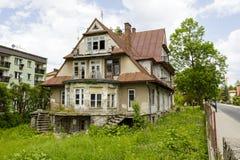 Maryska gammal trävilla i Zakopane, Polen Royaltyfria Bilder