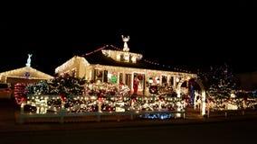 maryville tn最佳的圣诞灯看法  库存图片