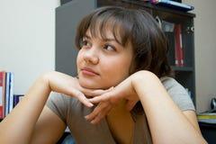 marzący kobietę młodą Fotografia Stock