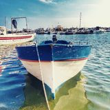Marzamemi. Small boat in Marzamemi Stock Image