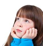 marzący dziewczyny małej Zdjęcia Stock