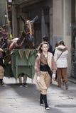 Marzec 22, 2015 Castellers festiwal w Barcelona (Hiszpania) Obrazy Royalty Free