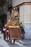 Marzec 22, 2015 Castellers festiwal w Barcelona (Hiszpania) Fotografia Royalty Free