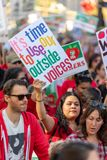Marzec Dla edukacji Los Angeles obrazy royalty free