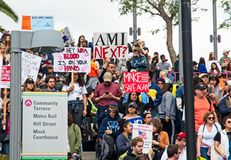 Marzec dla Nasz życie ruchu ` s marszu w W centrum Los Angeles Obrazy Royalty Free